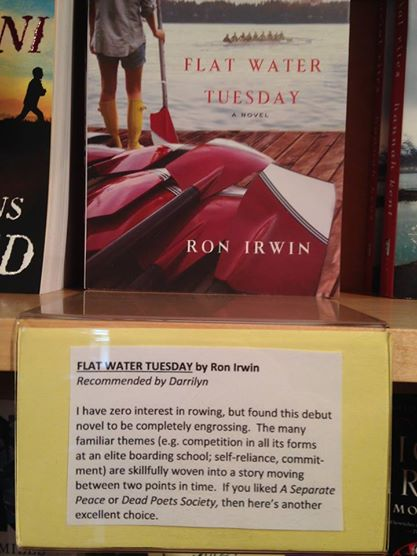 Flat Water Tuesday chosen as a staff pick at The Flying Pig Bookstore